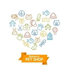 Pet Shop Concept vector