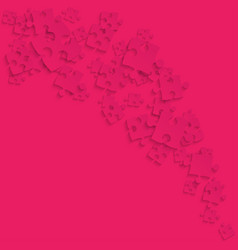 Pink puzzles pieces - smoke jigsaw vector