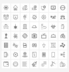 Pixel perfect set 49 line icons vector