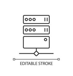 Proxy server linear icon vector