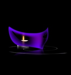 Purple mask and candle vector