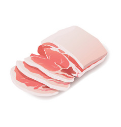 raw pork steak meat icon on white vector image