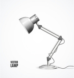 realistic detailed 3d lamp vintage vector image