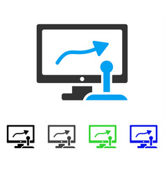 remote monitoring flat icon vector image