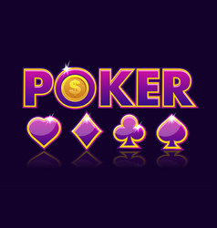 screen logo poker background for lottery or casino vector image
