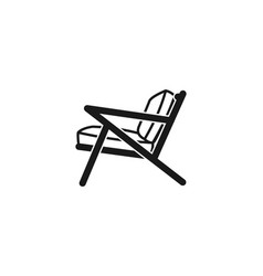 seat chair mono line logo vector image