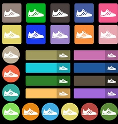 Sneakers icon sign Set from twenty seven vector image