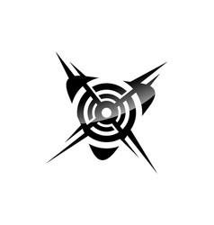 sport target logo vector image