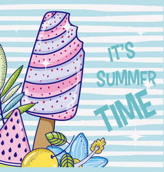 summer popsicle cartoon vector image