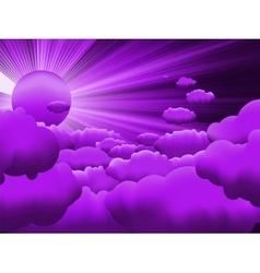 Sunburst sunset on cloud eps 8 vector