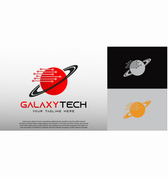 Technology logo with globe concept element vector