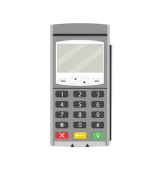 terminal for payment by card vector image