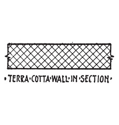 terra cotta wall in section material symbol vector image