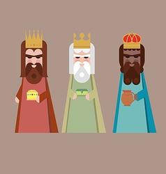 The three kings orient wisemen vector