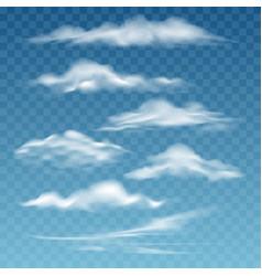 transparent storm clouds vector image