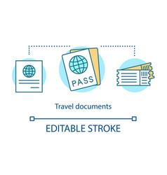 Travel document concept icon vector