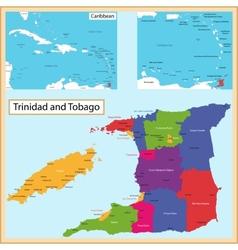 trinidad and tobago map vector image