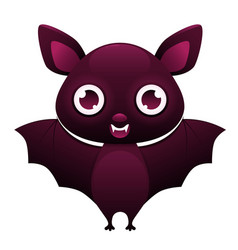 vampire bat cute cartoon character vector image