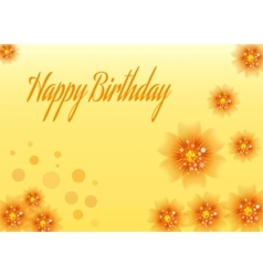 Birthday floral card vector image vector image