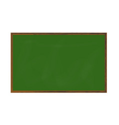empty green chalkboard texture on white wall vector image