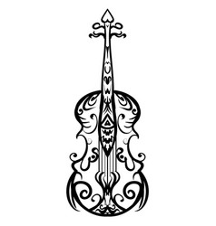 hand drawn cello sketch symbol violin vector image
