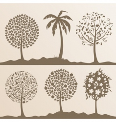 park trees3 vector image