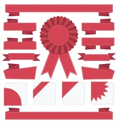 ribbon decorations vector image vector image