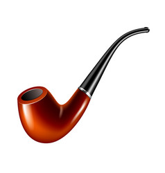 smoke pipe isolated on white vector image vector image