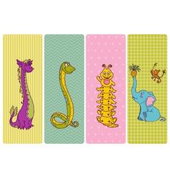 Vintage Children Banner Set vector image vector image