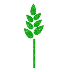 wheat ear icon grunge watermark vector image vector image