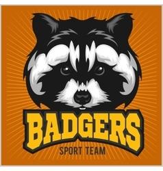 Badger Sport team Logo vector image