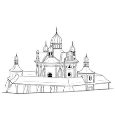 church on the white background vector image vector image