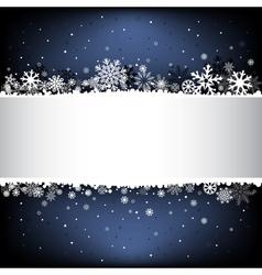 Dark blue snow mesh background with textarea vector