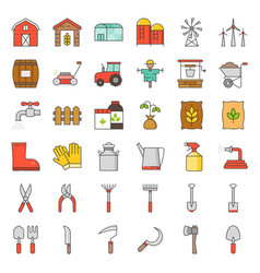 farm and agriculture equipment vector image