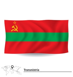 Flag of Transnistria vector image