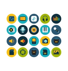 Flat icons set 11 vector image vector image