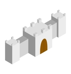 Fortress isometric 3d icon vector image