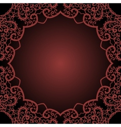 Frame for text in the Indian style vector image vector image