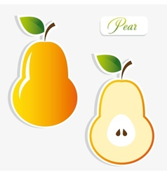 pear stickers vector image