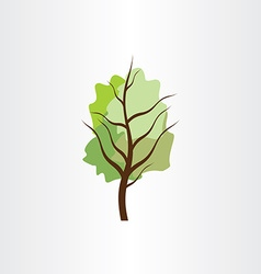 tree green design element vector image