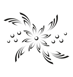 Abstract flower pictogram vector