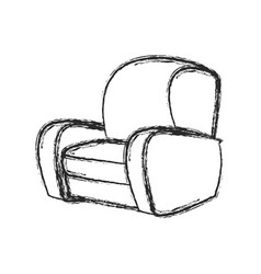 chair sofa seat image sketch vector image vector image