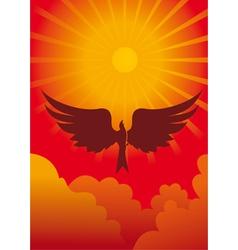 eagle in sun vector image vector image