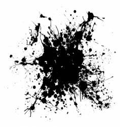 grunge ink splat vector image vector image