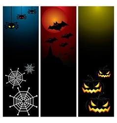 Happy Halloween day banner set design vector image