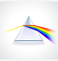spectrum prism isolated on white vector image vector image