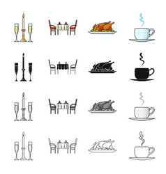 tea liquid restaurant and other web icon in vector image
