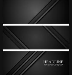 Abstract black tech concept banners vector