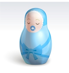 boy matrioshka vector image vector image