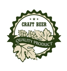Craft beer design label for a Premium Product vector image vector image